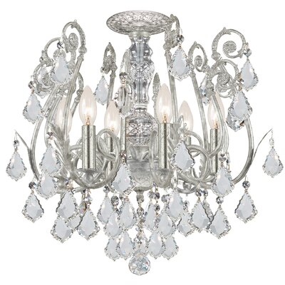 Frida 6-Light Semi-Flush Mount Crystal Grade: Hand Cut