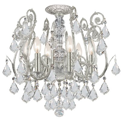 Frida 6-Light Semi-Flush Mount Crystal Grade: Spectra