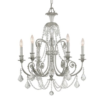 Frida 6-Light Crystal Chandelier Crystal Type: Swarovski Spectra