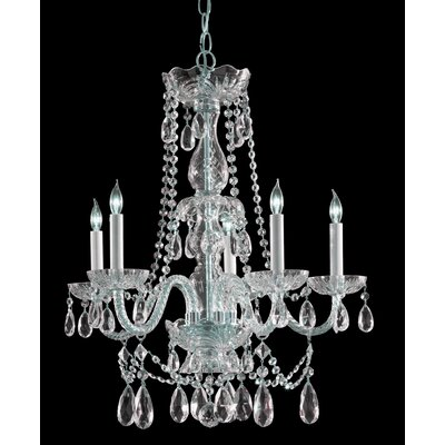 Careen Traditional 5-Light Crystal Chandelier Finish: Polished Brass, Crystal Type: Swarovski Elements