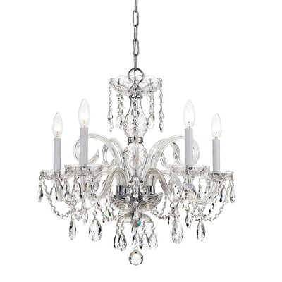 Caledonian 5-Light Crystal Chandelier Finish: Polished Chrome
