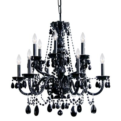 Edison 12-Light Crystal Chandelier