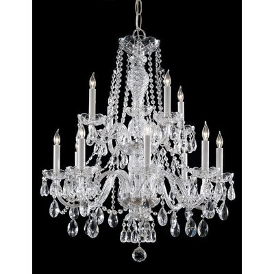 Careen 12-Light Crystal Chandelier Finish: Polished Chrome
