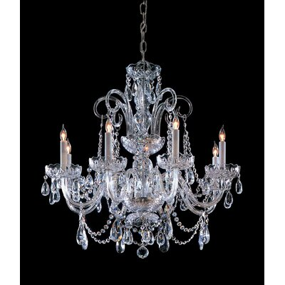 Careen 8-Light Crystal Chandelier Finish: Polished Chrome