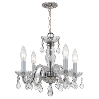 Careen 4-Light Crystal Chandelier Finish: Polished Chrome, Crystal Type: Swarovski Spectra