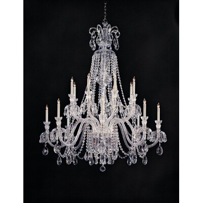 Careen 16-Light Crystal Chandelier Crystal Type: Hand Polished