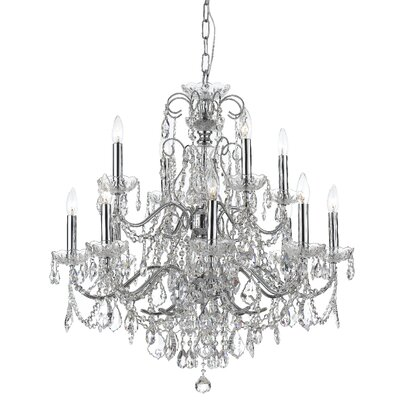 Axton 12-Light Crystal Chandelier Crystal: Swarovski Strass