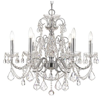 Axton 6-Light Crystal Chandelier Crystal: Swarovski Strass