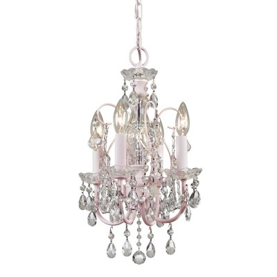 Axton 4-Light Crystal Chandelier