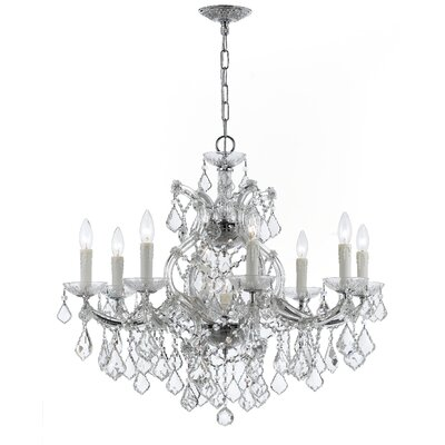 Griffiths 9-Light Crystal Chandelier Finish: Polished Chrome