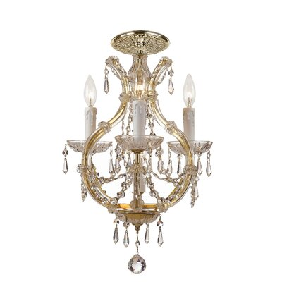 Griffiths 4-Light Flush Mount Crystal Grade: Swarovski Elements