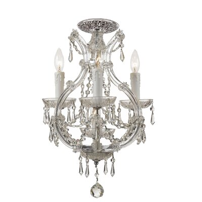 Griffiths 4-Light Semi Flush Mount Crystal Grade: Swarovski Spectra
