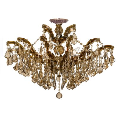 Griffiths 6-Light Semi Flush Mount Crystal Grade: Standard