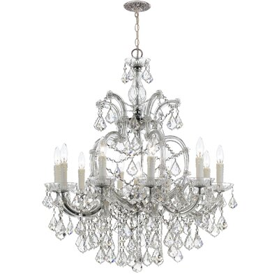 Griffiths 11-Light Crystal Chandelier Finish: Polished Chrome, Crystal Grade: Clear