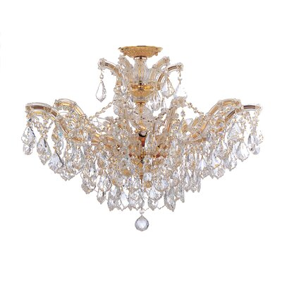 Griffiths 6-Light Semi Flush Mount Crystal Grade: Clear