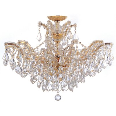 Griffiths 6-Light Crystal Chandelier Crystal Type: Swarovski Elements, Finish: Polished Gold