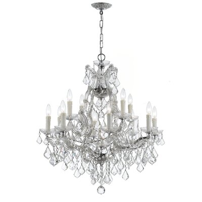 Griffiths 12-Light Crystal Chandelier Finish: Polished Chrome, Crystal Type: Swarovski Elements