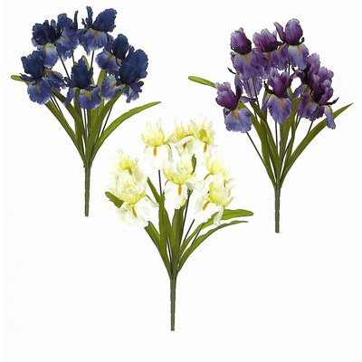 Assortment Soft Iris Bush Flowers (Set of 12)