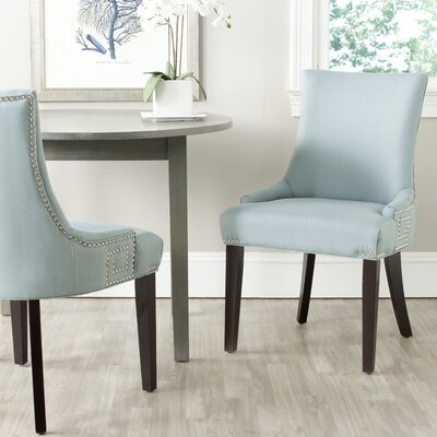 Mcdaniel Upholstered Wood Side Chair Upholstery: Light Blue