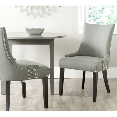 Mcdaniel Upholstered Wood Side Chair Upholstery: Granite