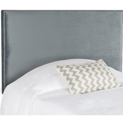 Farringdon Upholstered Wingback Headboard Size: Full, Color: Wedgwood Blue, Upholstery: Cotton