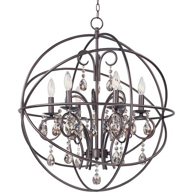 Alden 6-Light Candle-Style Chandelier Finish: Oil Rubbed Bronze