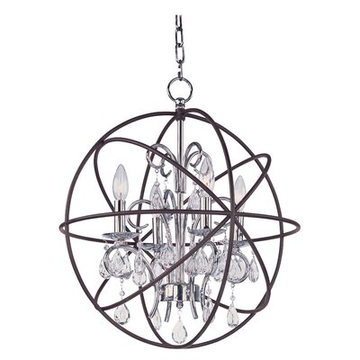 Alden 4-Light Candle-Style Chandelier Finish: Anthracite/Polished Nickel