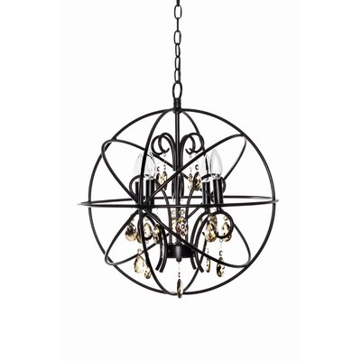 Shadwell 4-Light Candle-Style Chandelier Finish: Oil Rubbed Bronze