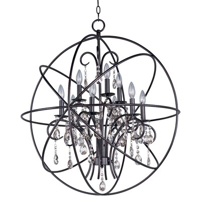 Alden 9-Light Candle-Style Chandelier Finish: Oil Rubbed Bronze
