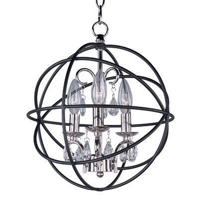Shadwell 3-Light Candle-Style Chandelier Finish: Anthracite/Polished Nickel