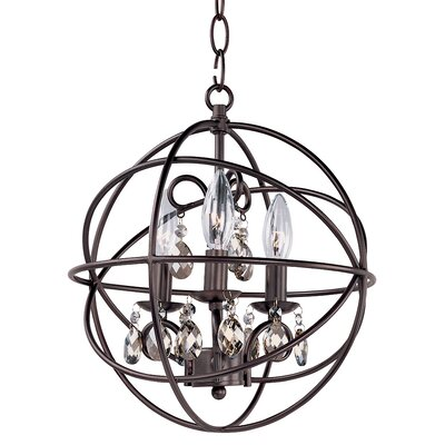 Alden 3-Light Candle-Style Chandelier Finish: Oil Rubbed Bronze