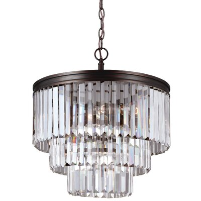 Domenique 4-Light Steel Crystal Chandelier Finish: Burnt Sienna