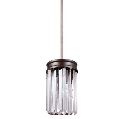 Domenique 1-Light Steel Mini Pendant Finish: Burnt Sienna