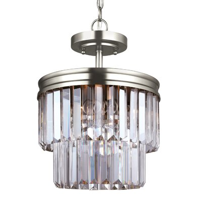 Krenwik 2-Light Drum Pendant Finish: Antique Brushed Nickel