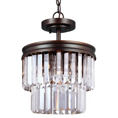 Domenique 2-Light Drum Pendant Finish: Burnt Sienna