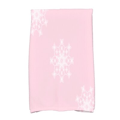 Holiday Wishes Hand Towel Color: Light Pink