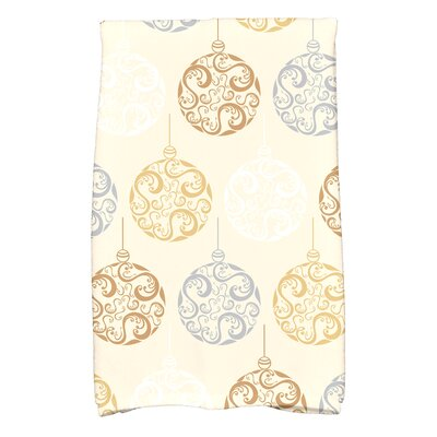 Holiday Wishes Hand Towel Color: Brown