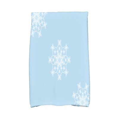 Elna Falling Snow Hand Towel Color: Light Blue