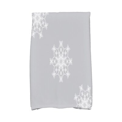 Holiday Wishes Falling Snow Hand Towel Color: Gray