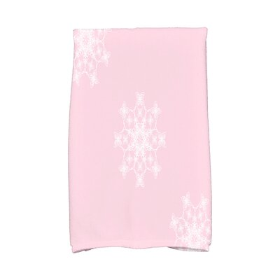 Holiday Wishes Falling Snow Hand Towel Color: Pink