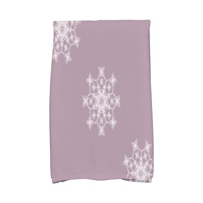 Holiday Wishes Falling Snow Hand Towel Color: Lavender