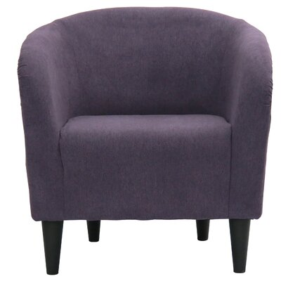 Sabio Barrel Chair Upholstery: Eggplant