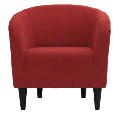 Sabio Barrel Chair Upholstery: Marsala Red