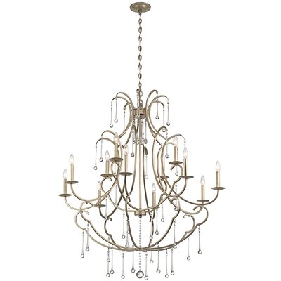 Wickham 12-Light Candle-Style Chandelier