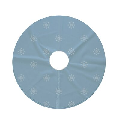Holiday Wishes Falling Snow Decorative Holiday Geometric Print Tree Skirt Color: Light Blue