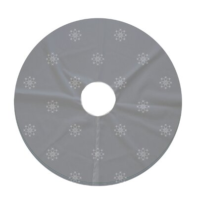 Holiday Wishes Falling Snow Decorative Holiday Geometric Print Tree Skirt Color: Gray