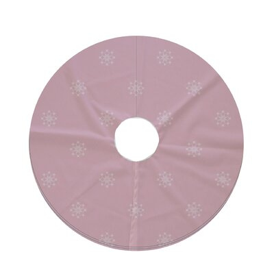 Holiday Wishes Falling Snow Decorative Holiday Geometric Print Tree Skirt Color: Light Pink