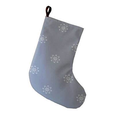 Holiday Wishes Falling Snow Holiday Stocking Color: Gray
