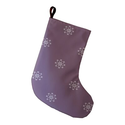 Holiday Wishes Falling Snow Holiday Stocking Color: Lavender