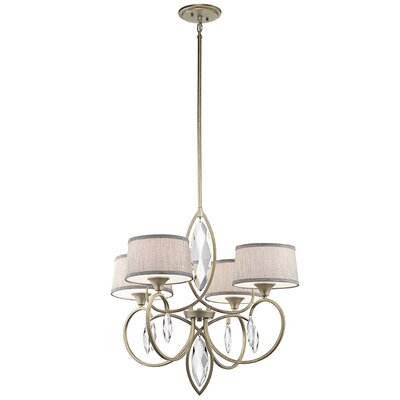 Brookline 4-Light Shaded Chandelier Finish: Sterling Gold